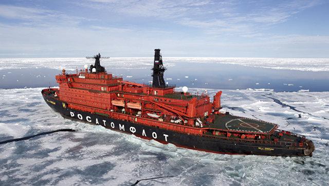 Медведев: Флотът от атомни ледоразбивачи на Русия се възражда