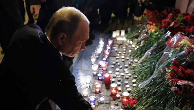 ВИДЕО: Путин почете жертвите на взрива в Санкт Петербург