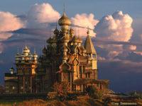 """22 купола красят """"Преображение"""" на остров Кижи в Русия"""
