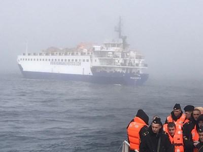 Екипажът на потъналия в Черно море руски кораб се завърна в родината си