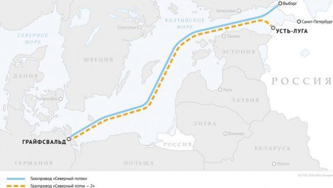 """Проектът """"Северен поток"""". Схема: """"Газпром"""""""