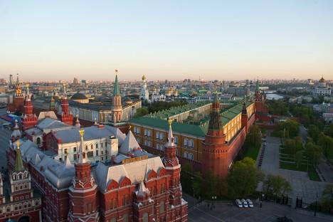 Гледка към Историческия музей и Кремъл. Снимка: Александър Вилф / РИА Новости