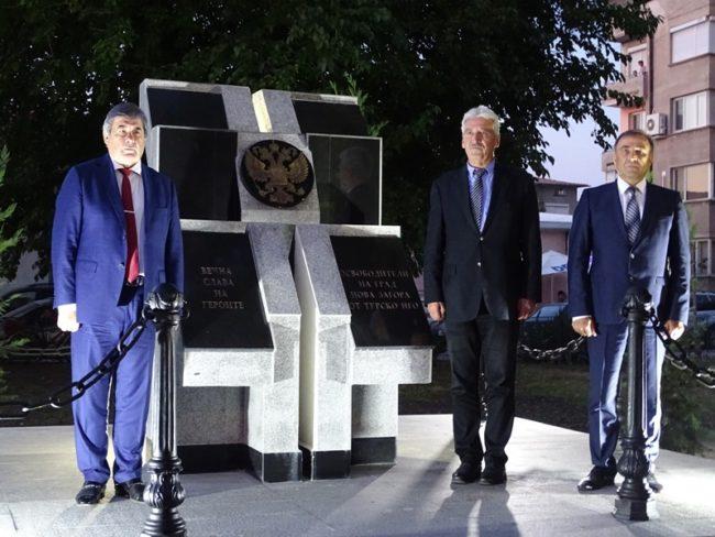 С тържествена церемония бе открит Паметник на освободителите на Нова Загора