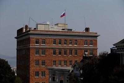 Руския флаг на консулството в Сан Франциско бе свален от американските власти
