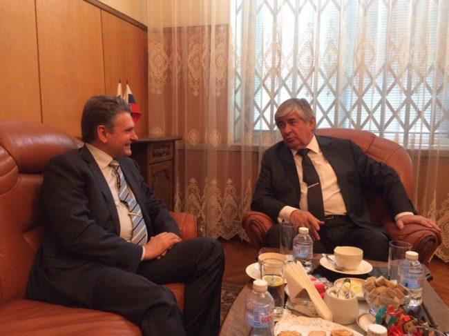 Среща на Николай Малинов с Посланика на РФ