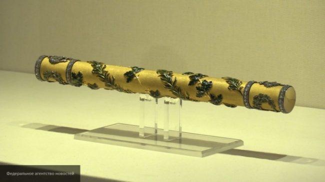 Фелдмаршалският жезъл на Александър  II, изложен в Ермитажа