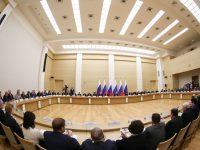 Срещата на държавния глава с членовете на работната група се състоя в президентската резиденция в Ново Огарьово. Снимка: Константин Завражин/РГ