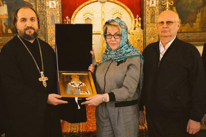 Посланик Елеонора Митрофанова на посещение в руската църква «Свети Николай Чудотворец»
